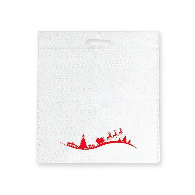 DAIA CHRISTMAS - Non-woven textile bag with Christmas motif, 70gm2. - white