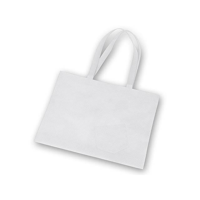 ROXANA - nákupní taška z netkané textilie, 80 g/m2 - bílá