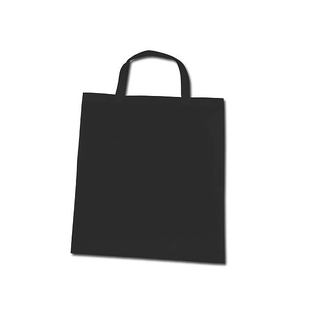 TAZARA - nákupní taška z netkané textilie, 80 g/m2 - černá