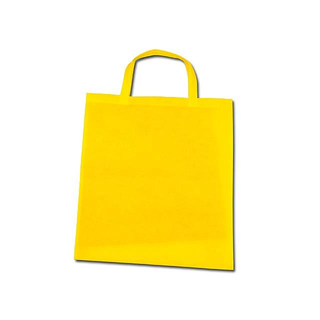 TAZARA - nákupní taška z netkané textilie, 80 g/m2 - žlutá