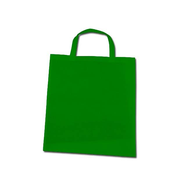 TAZARA - nákupní taška z netkané textilie, 80 g/m2 - zelená
