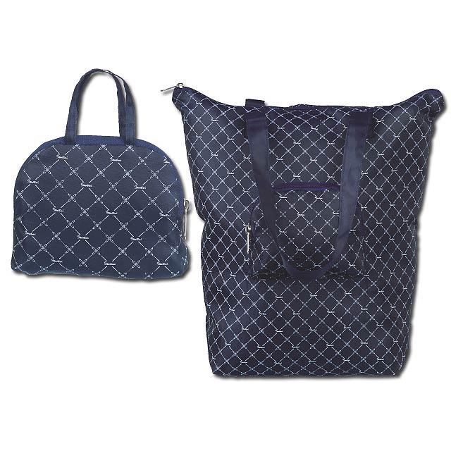 EMPORIA - polyesterová skládací taška, 210D, SANTINI - modrá