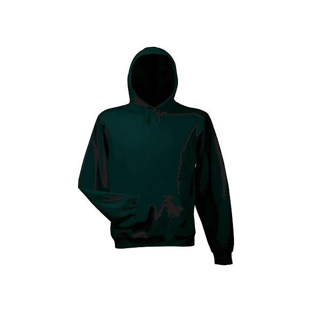 HOOD - mikina s kapucí, 280 g/m2, vel. S, B & C - černá