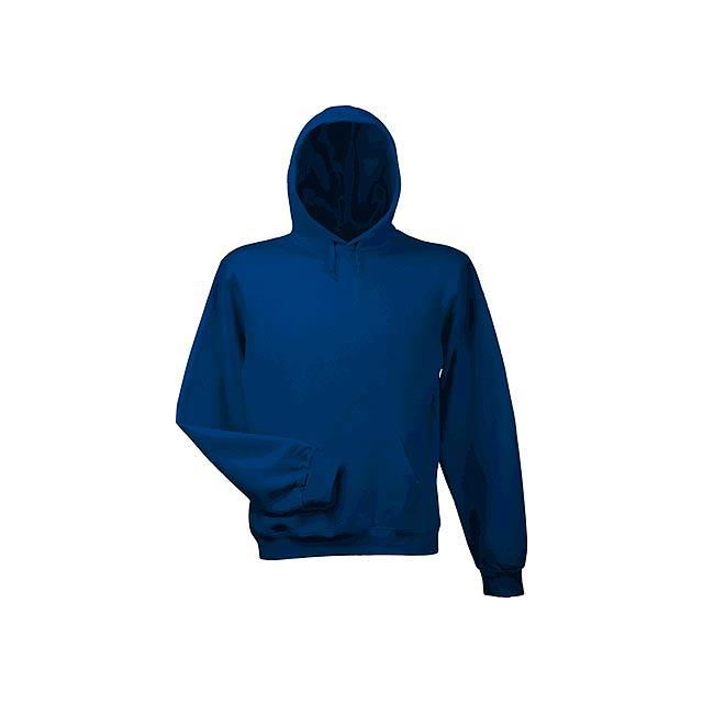 HOOD - mikina s kapucí, 280 g/m2, vel. S, B & C - modrá