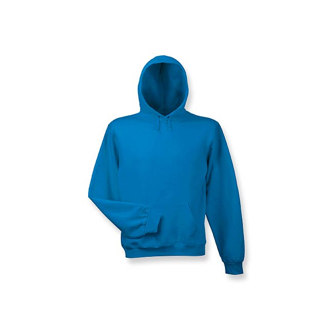 HOOD - mikina s kapucí, 280 g/m2, vel. M, B & C - modrá