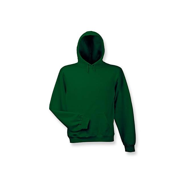 HOOD - mikina s kapucí, 280 g/m2, vel. M, B & C - zelená