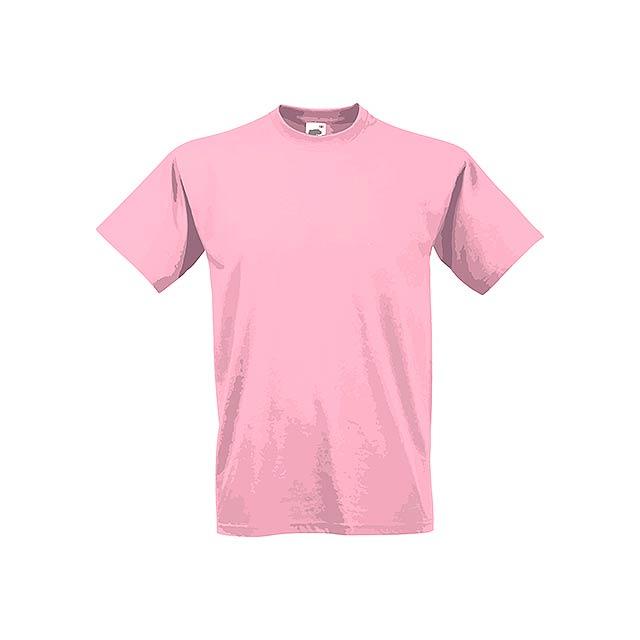 VALUE T - unisex tričko, 160 g/m2, vel. S, FRUIT OF THE LOOM - růžová