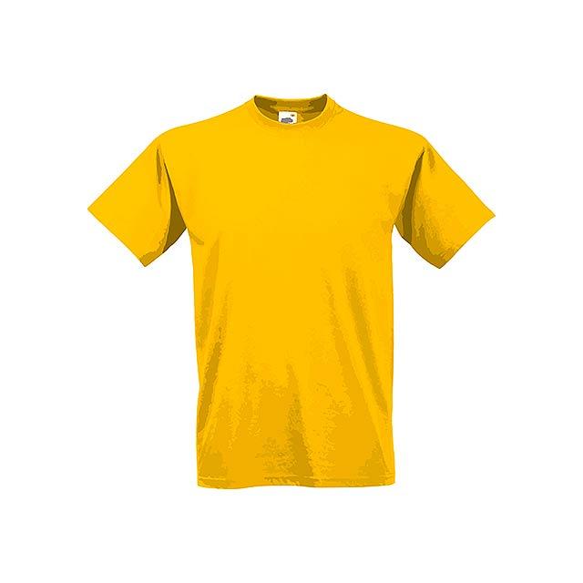 VALUE T - unisex tričko, 160 g/m2, vel. XL, FRUIT OF THE LOOM - žlutá
