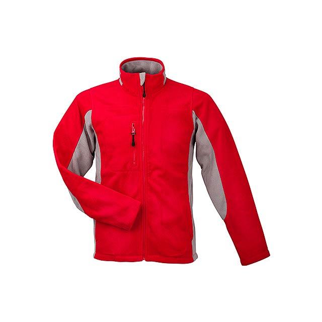 NORDIC - unisex fleecová bunda, 300 g/m2, vel. S, SOL'S - červená