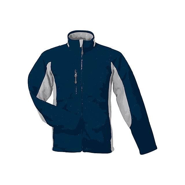 NORDIC - unisex fleecová bunda, 300 g/m2, vel. S, SOL'S - modrá