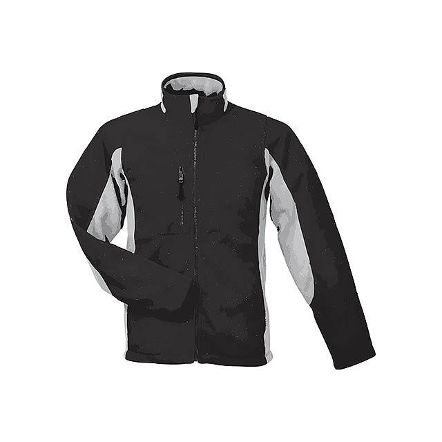 NORDIC - unisex fleecová bunda, 300 g/m2, vel. XL, SOL'S - černá