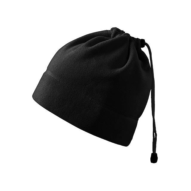 HOTTER - multifunkční unisexová fleecová čepice, 240 g/m2, ADLER - černá