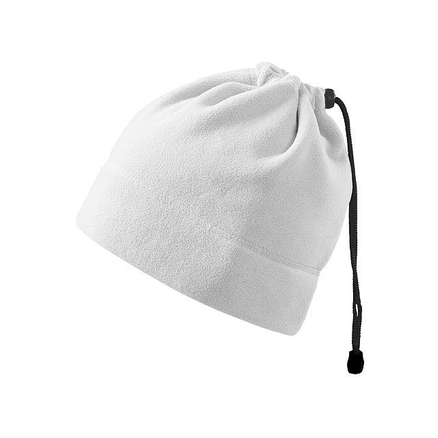 HOTTER - multifunkční unisexová fleecová čepice, 240 g/m2, ADLER - bílá