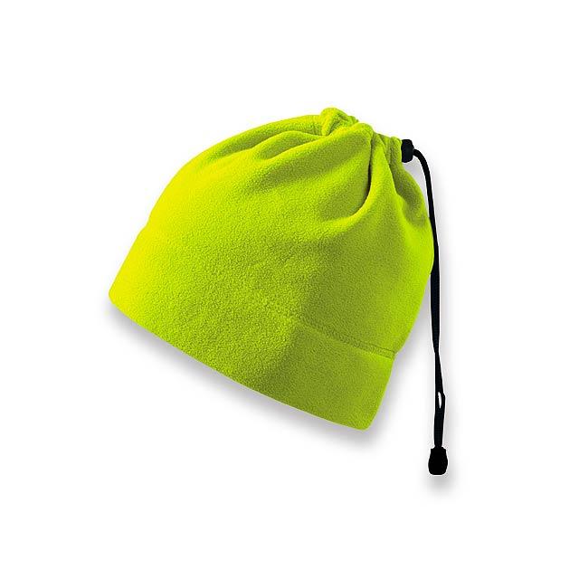 HOTTER - multifunkční unisexová fleecová čepice, 240 g/m2, ADLER - žlutá