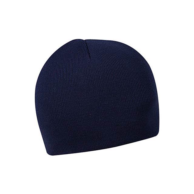 KULICH - zimní čepice, COFEE - modrá