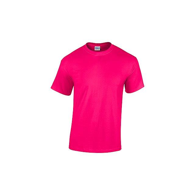 GILDREN - unisex tričko 185 g/m2, vel. M, GILDAN - růžová