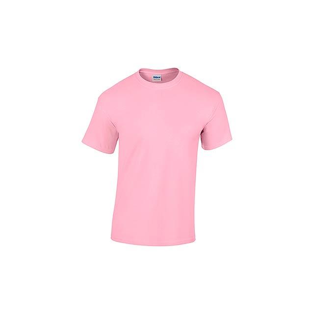 GILDREN - unisex tričko 185 g/m2, vel. L, GILDAN - růžová