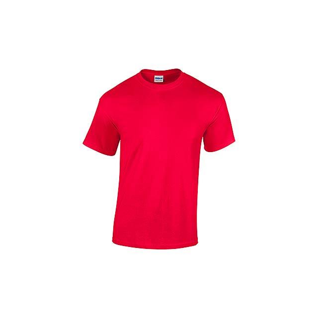 GILDREN - unisex tričko 185 g/m2, vel. XL, GILDAN - červená