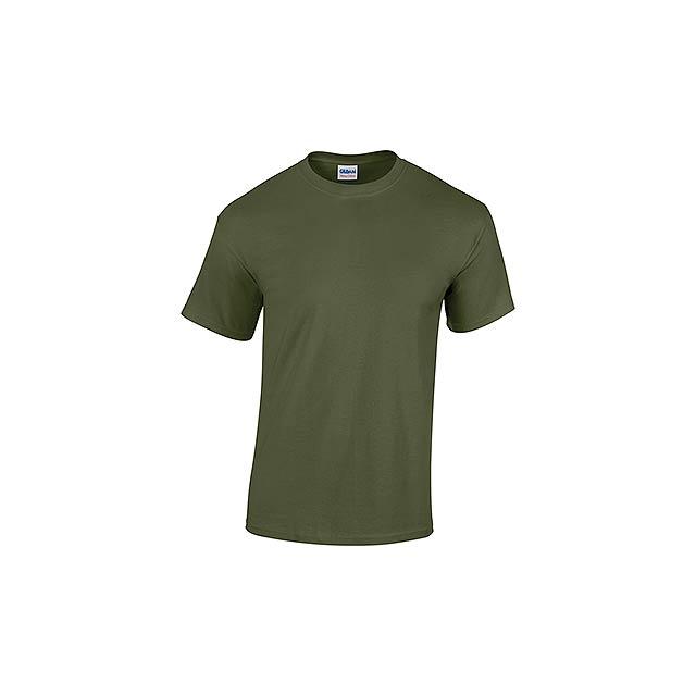 GILDREN unisex tričko 180 g/m2, vel. XL, GILDAN, Khaki - zelená