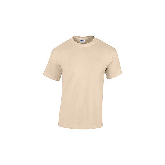 GILDREN unisex tričko 180 g/m2, vel. XXL, GILDAN, Béžová - béžová
