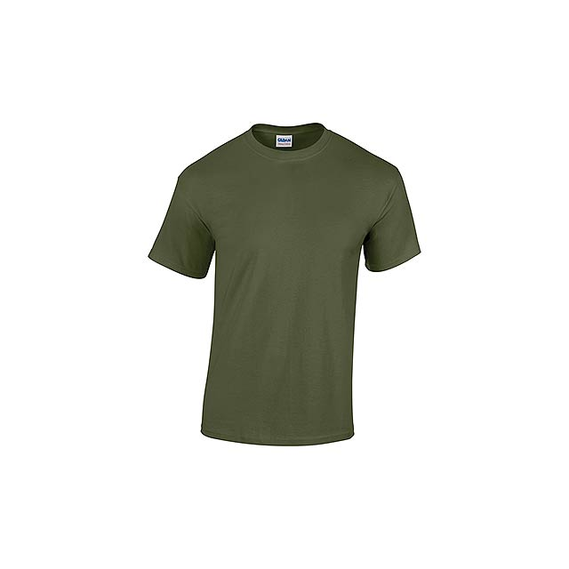 GILDREN unisex tričko 180 g/m2, vel. XXL, GILDAN, Khaki - zelená
