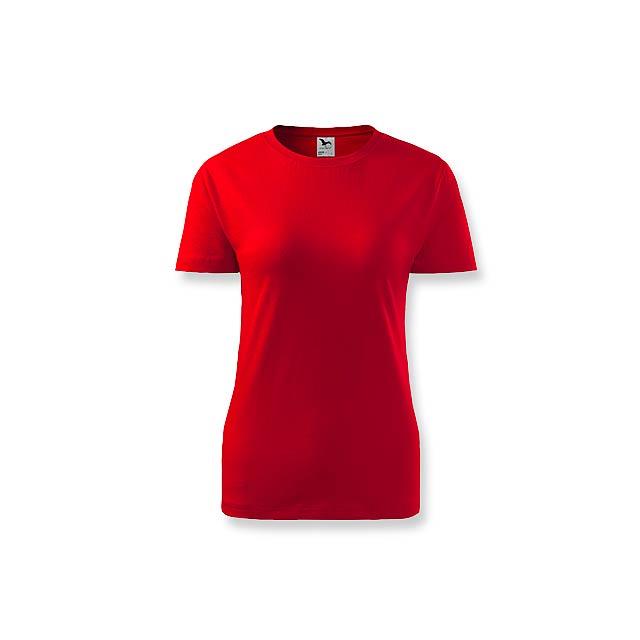 BASIC T-160 WOMEN - dámské tričko, 160 g/m2, vel. S, ADLER - červená