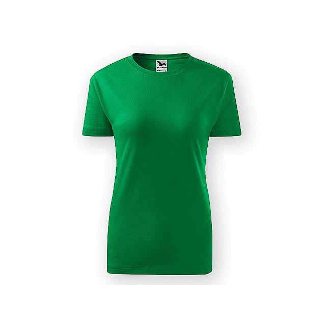 BASIC T-160 WOMEN dámské tričko, 160 g/m2, vel. S, ADLER, Zelená - zelená