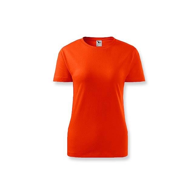 BASIC T-160 WOMEN dámské tričko, 160 g/m2, vel. S, ADLER, Oranžová - oranžová