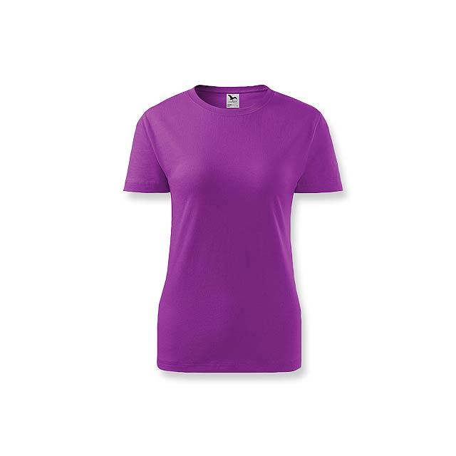BASIC T-160 WOMEN - Dámské tričko s krátkým rukávem, 100 % bavlna, 160 g/m2.     - fialová