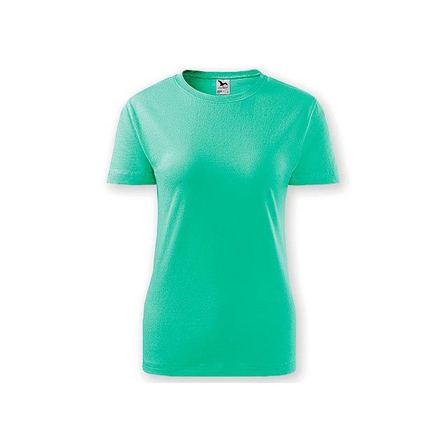 BASIC T-160 WOMEN dámské tričko, 160 g/m2, vel. S, ADLER, Mátově zelená - zelená
