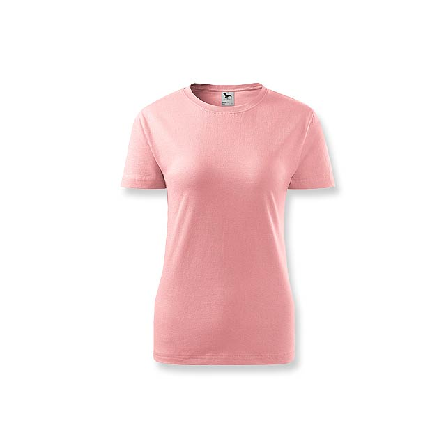 BASIC T-160 WOMEN - dámské tričko, 160 g/m2, vel. L, ADLER - růžová