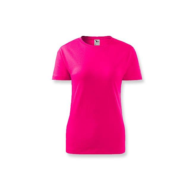 BASIC T-160 WOMEN - dámské tričko, 160 g/m2, vel. XL, ADLER - růžová