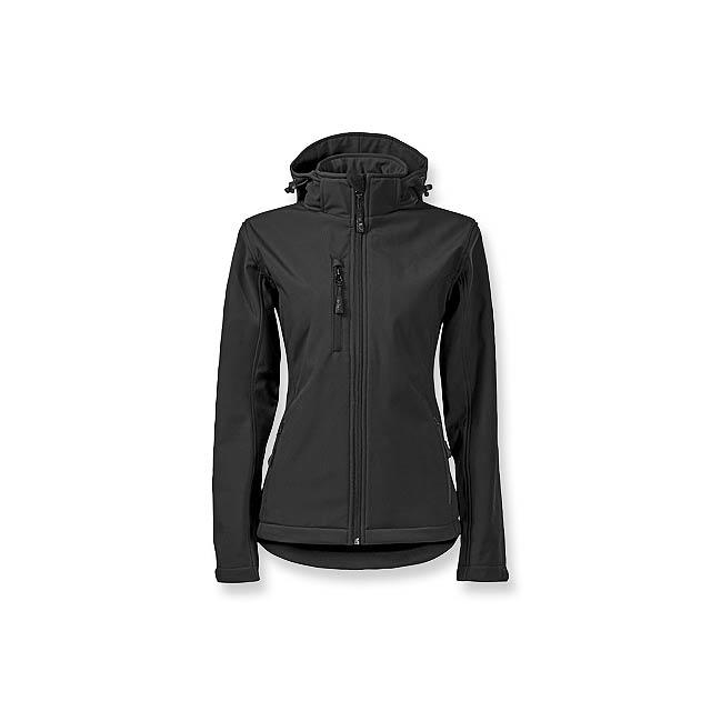TREKING WOMEN - dámská softshellová bunda, 300 g/m2, vel. S, ADLER - černá