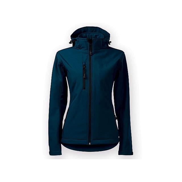 TREKING WOMEN dámská softshellová bunda, 300 g/m2, vel. S, ADLER, Noční modrá - modrá
