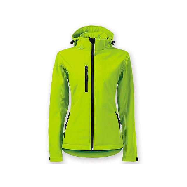TREKING WOMEN dámská softshellová bunda, 300 g/m2, vel. M, ADLER, Limetkově zelená - zelená
