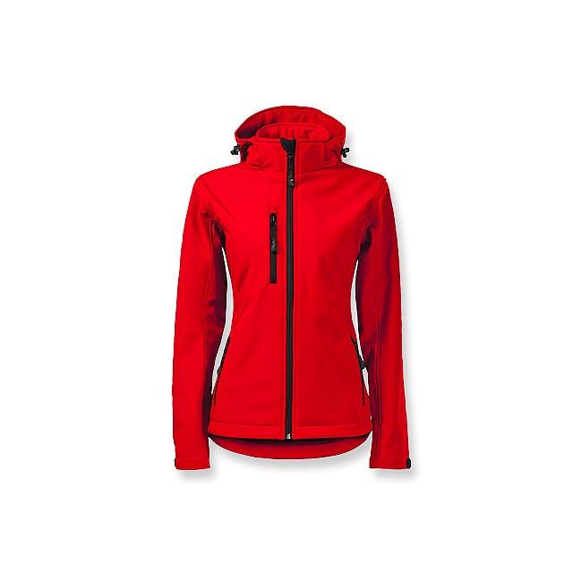 TREKING WOMEN - dámská softshellová bunda, 300 g/m2, vel. XL, ADLER - červená