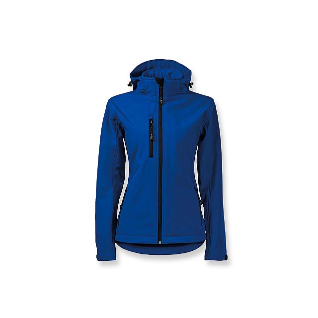 TREKING WOMEN - dámská softshellová bunda, 300 g/m2, vel. XXL, ADLER - modrá