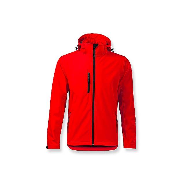TREKING MEN - pánská softshellová bunda, 300 g/m2, vel. M, ADLER - červená