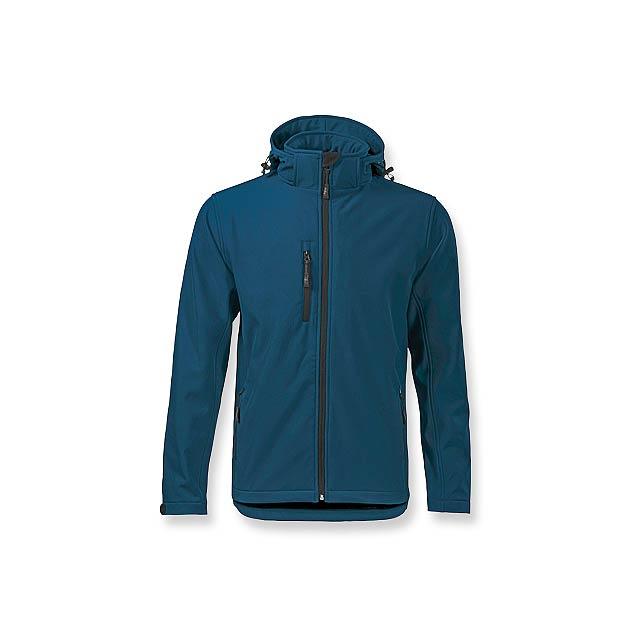 TREKING MEN - pánská softshellová bunda, 300 g/m2, vel. M, ADLER - modrá