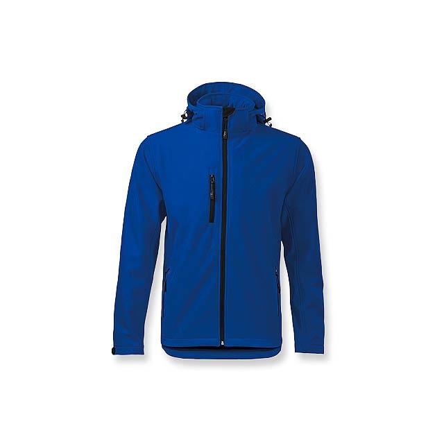 TREKING MEN - pánská softshellová bunda, 300 g/m2, vel. XL, ADLER - modrá