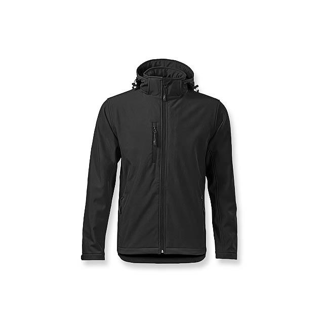 TREKING MEN - pánská softshellová bunda, 300 g/m2, vel. XXL, ADLER - černá