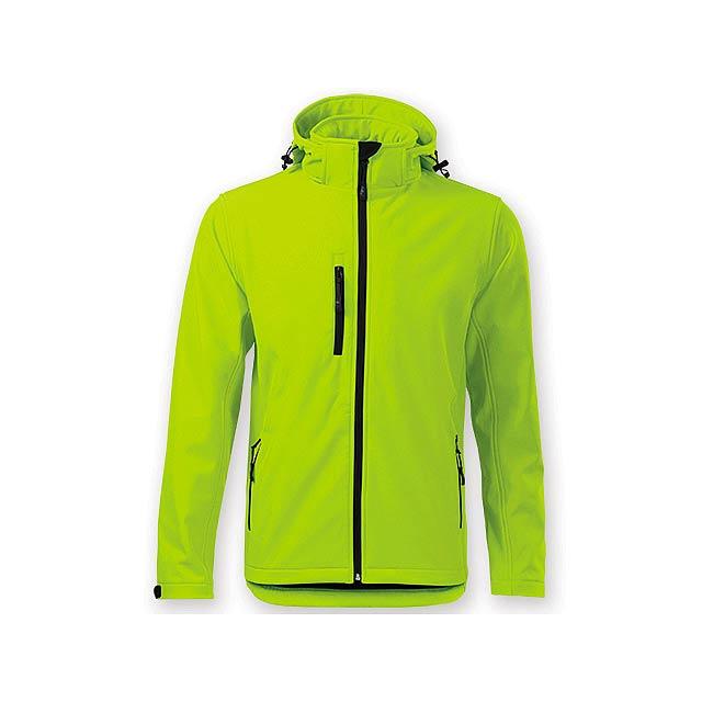 TREKING MEN pánská softshellová bunda, 300 g/m2, vel. XXL, ADLER, Limetkově zelená - zelená