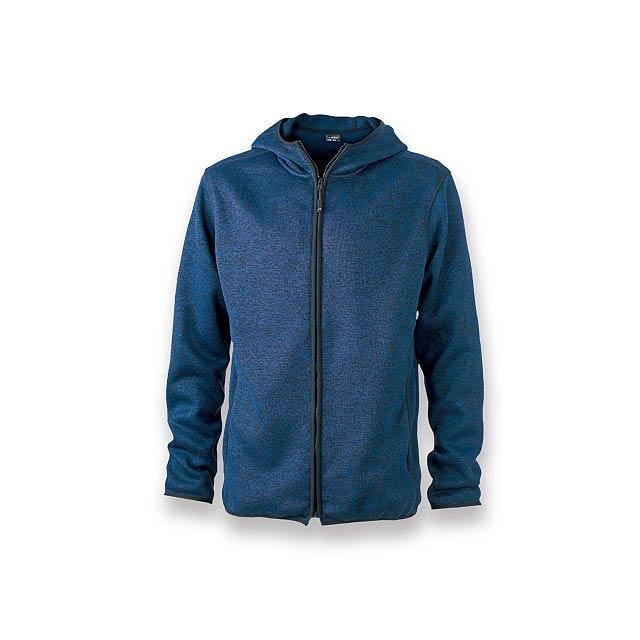 WOOLLY MEN - pánská polyesterová mikina, 320 g/m2, vel. L, JAMES NICHOLSON - modrá