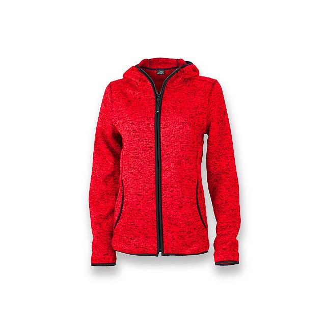 WOOLLY WOMEN - dámská polyesterová mikina, 320 g/m2, vel. S, JAMES NICHOLSON - červená