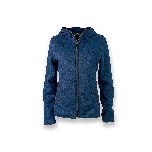 WOOLLY WOMEN - dámská polyesterová mikina, 320 g/m2, vel. L, JAMES NICHOLSON - modrá