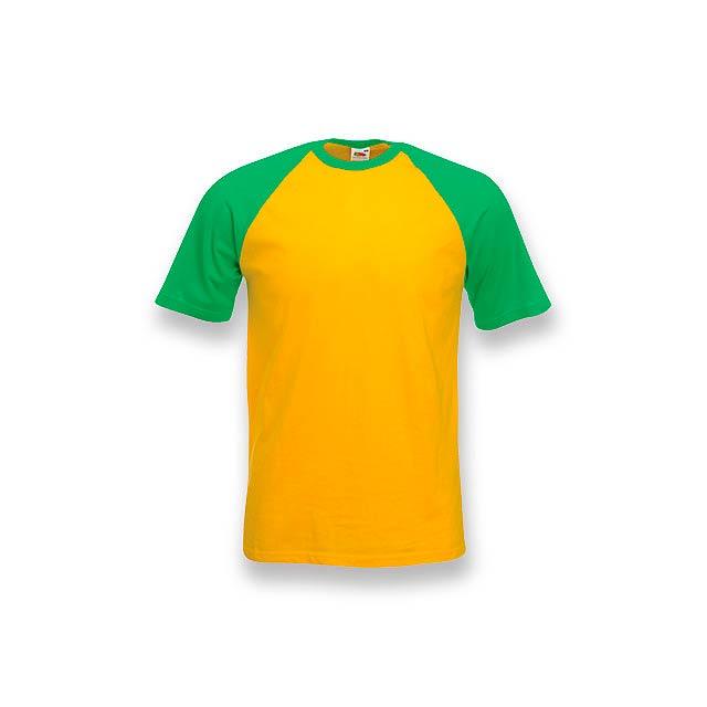 DOUBLER - unisex tričko, 165 g/m2, vel. S, FRUIT OF THE LOOM - žlutá