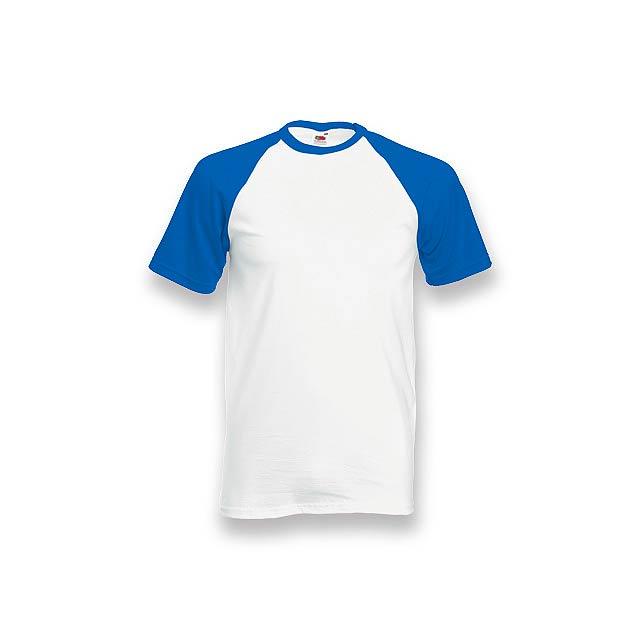 DOUBLER - unisex tričko, 165 g/m2, vel. S, FRUIT OF THE LOOM - modrá