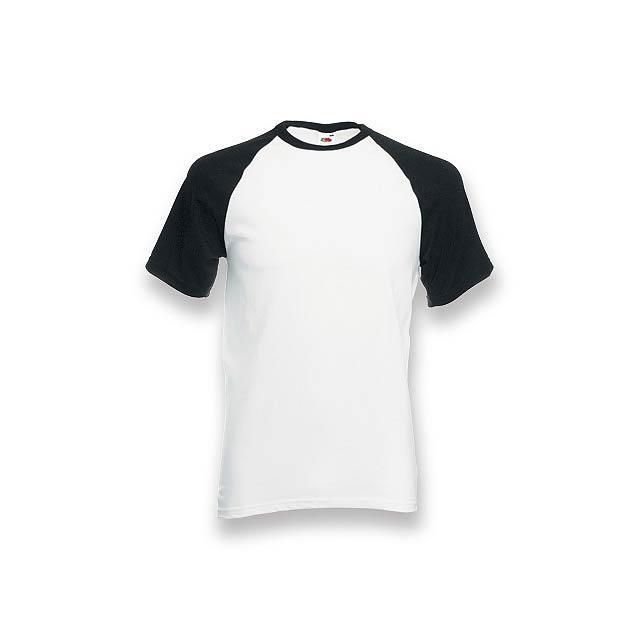 DOUBLER - unisex tričko, 165 g/m2, vel. XXL, FRUIT OF THE LOOM - černá