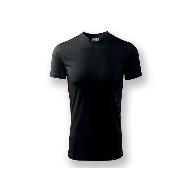 NEONY - Pánské tričko s krátkým rukávem. Vyrobeno z měkkého, hladkého materiálu, vhodné pro sport i celodenní nošení. - černá