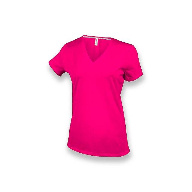 WOMY - dámské tričko, 180 g/m2, vel. L, KARIBAN - růžová